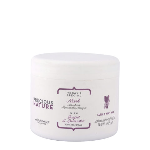 Alfaparf Precious Nature Mask With Grape & Lavender FüR Lockiges & Welliges Haar 500ml