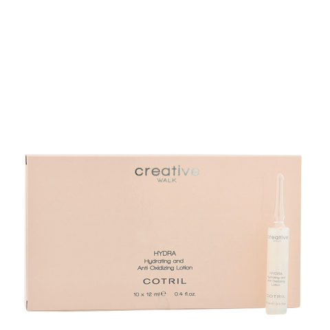 Cotril Creative Walk Hydra Hydrating and Anti-Oxidizing Lotion 10x12ml - Feuchtigkeitsspendende Antioxidationsfläschchen