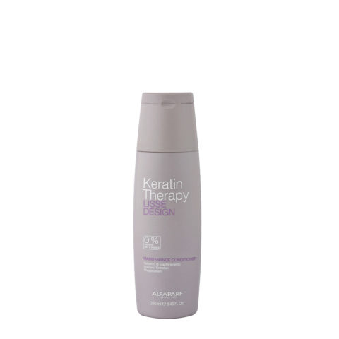 Alfaparf Lisse Design Keratin Therapy Maintenance Conditioner 250ml - Pflegebalsam FüR GläTtungserweiterung