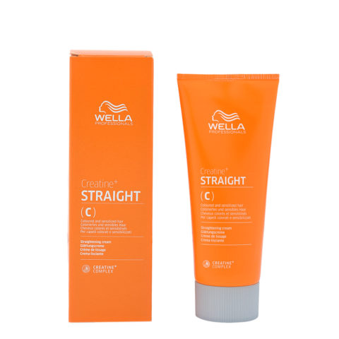 Wella Creatine+ Straight C glättungscreme für gefärbtes und empfindliches haar 200ml