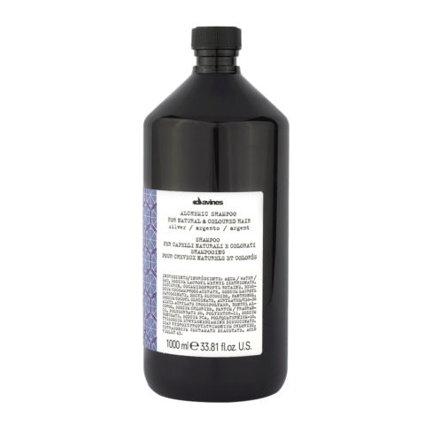 Davines Alchemic Shampoo Silver 1000ml - Intensiviert platinblondes