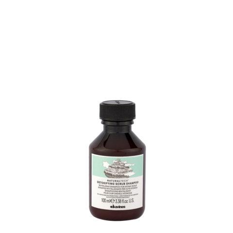 Davines Naturaltech Detoxifying Scrub Shampoo 100ml - Revitalisierendes Peeling-Shampoo