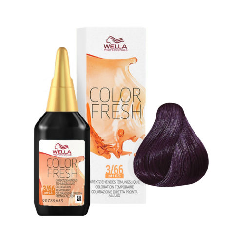 3/66 Dunkelbraun violett-intensiv Wella Color fresh 75ml