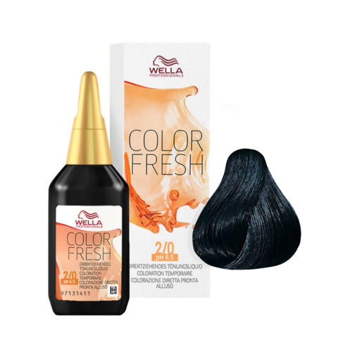 2/0 Schwarz Wella Color fresh 75ml
