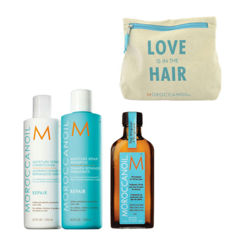 Moroccanoil Kit7 Moisture Repair Shampoo 250ml conditioner 250ml Oil Treatment 100ml  Geschenk-Etui