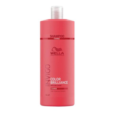 Wella Invigo Color Brilliance Color Protection Shampoo 1000ml - coarse hair