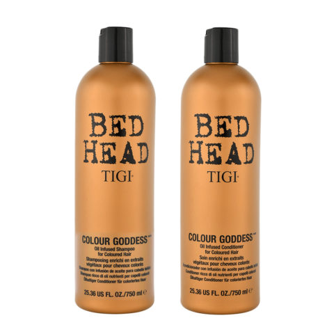 Tigi Colour Goddess Kit Shampoo 750ml Conditioner 750ml Für Gefärbtes Haar