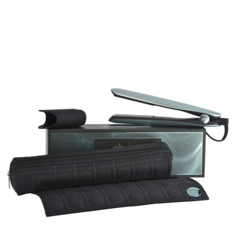 GHD Gold Professional Styler Glacial Blue Collect. with Heat-resistant Bag - glätteisen mit hitzebeständiger Unterlage