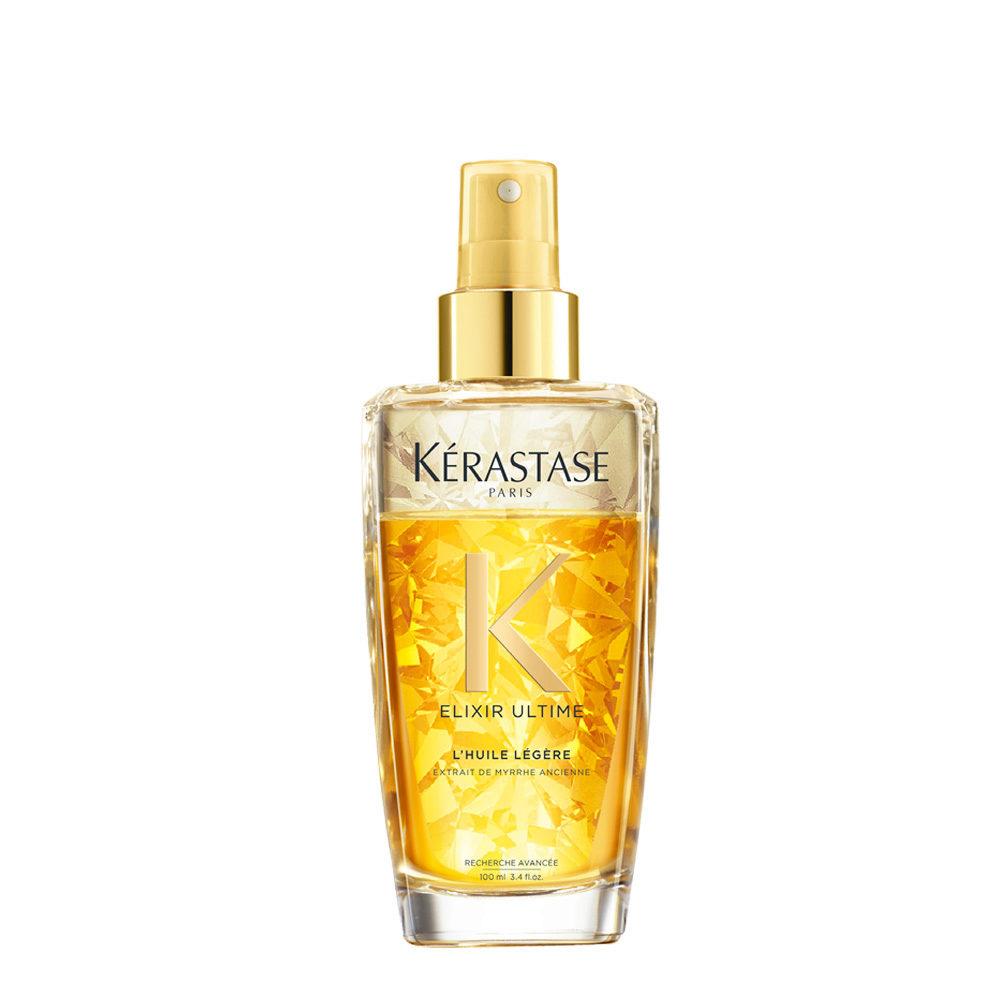 Kerastase Elixir Ultime L'Huile Legere 100ml - Zweiphasen-Öl-Spray ist ideal für feineres Haar