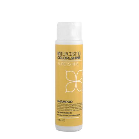 Intercosmo Color & Shine Supershine Shampoo 300ml - nährende aufheller mit leinsamen