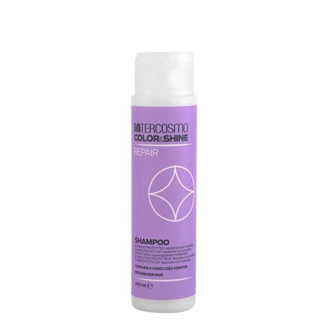 Intercosmo Color & Shine Repair Shampoo 300ml - schützendes Keratin-Reparaturshampoo