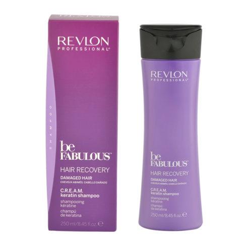 Revlon Be Fabulous Hair Recovery Cream Keratin Shampoo 250ml - Umstrukturierungsshampoo