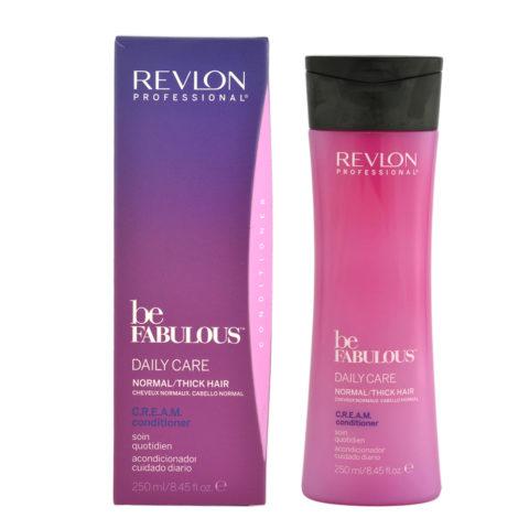 Revlon Be Fabulous Daily Care Normal Cream Condit 250ml - regenerierendes Balsam mittleres bis großes Haar