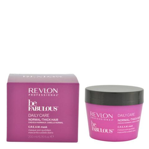 Revlon Be Fabulous Daily care Normal / thick hair Cream Mask 200ml - regenerierende Maske für mittlere bis große Haare