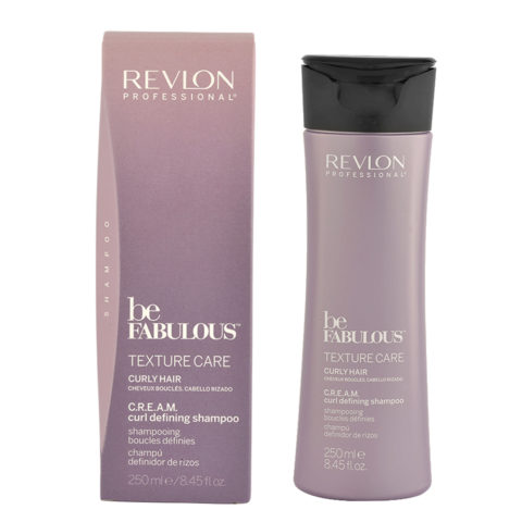 Revlon Be Fabulous Curly hair Cream Curl defining Shampoo 250ml - Definition Shampoo lockiges Haar