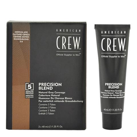 American Crew Classic Precision Blend 5-6 asch Mittelbraun 3x40ml - Farbe für Männer