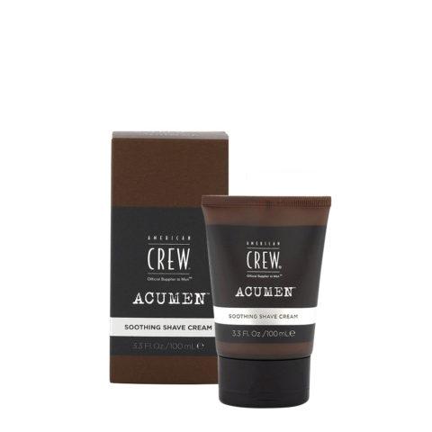 American Crew Acumen Soothing Shave Cream 100ml - Feuchtigkeitsspendende Rasierschaum
