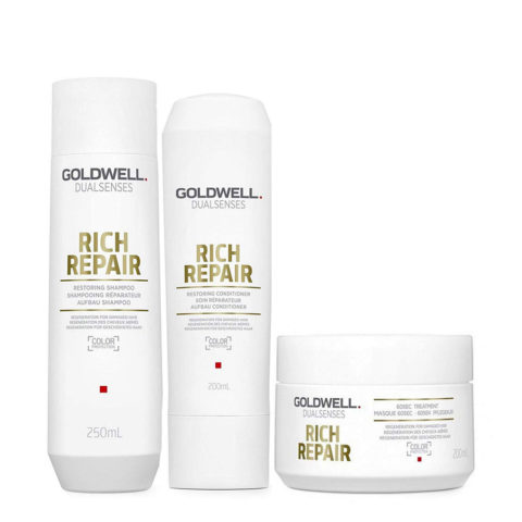 Goldwell rich repair Shampoo 250ml Conditioner 200ml Mask 200ml