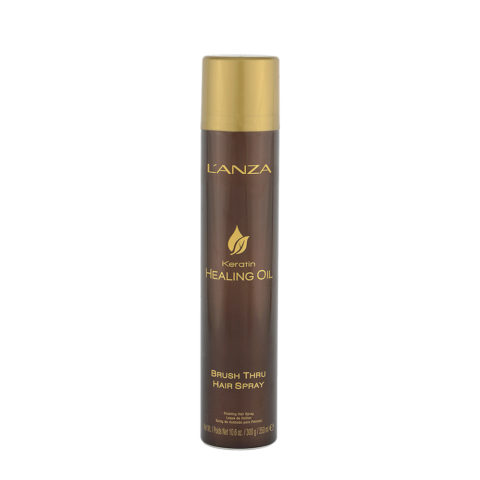 L' Anza Healing Oil Brush Thru Hairspray 350ml - Haarlack flexibler Halt