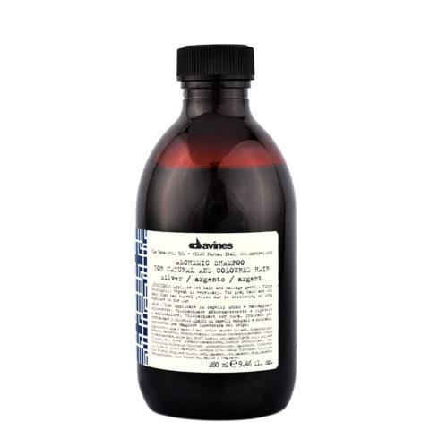 Davines Alchemic Shampoo Silver 280ml - Intensiviert platinblondes