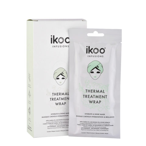 Ikoo Thermal treatment wrap Hydrate & shine mask 5x35g - Feuchtigkeitsspendende Maske und Glanz