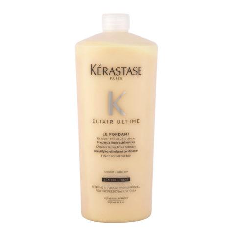 Kerastase Elixir Ultime Le Fondant 1000ml - cremige, mit Öl angereicherte Conditioner, verstärkt den Haarglanz