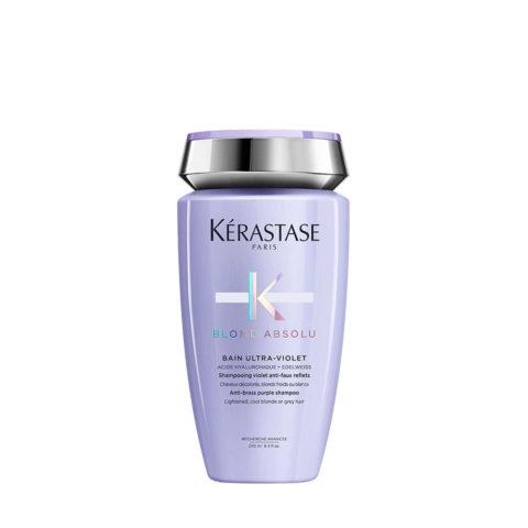 Kerastase Blond Absolu Bain ultra violet 250ml - Hochwertiges Anti Gelbstich Haarbad