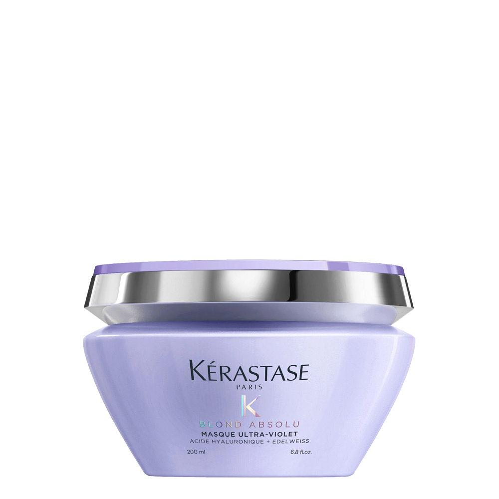 Kerastase Blond Absolu Masque ultra violet 200ml - Perfektionierende Anti-Gelbstich Maske
