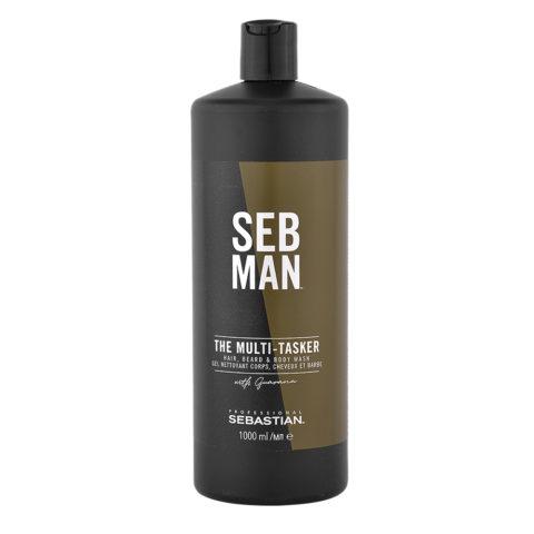 Sebastian Man The Multitasker Hair Beard & Body Wash 1000ml
