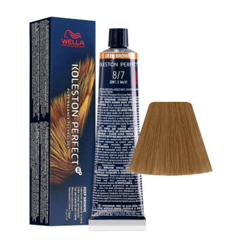 8/7 Lichtblond Braun Wella Koleston perfect Me+ Deep Browns 60ml