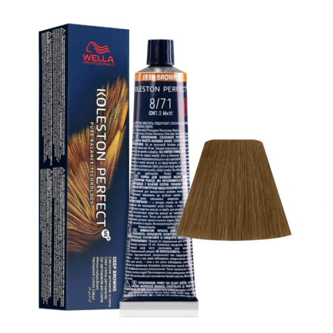 8/71 Hellblond Braun Asch Wella Koleston perfect Me+ Deep Browns 60ml
