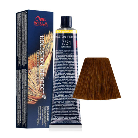 7/31 Mittelblond Asch-Gold Wella Koleston perfect Me+ Rich Naturals 60ml