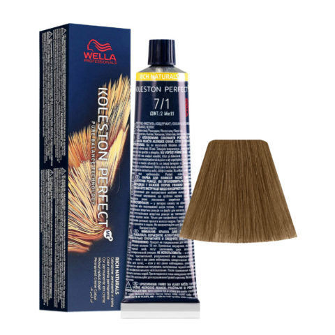 7/1 Mittelblond Asch Wella Koleston perfect Me+ Rich Naturals 60ml