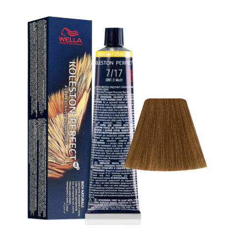 7/17 Mittelblond Braun-Asch Wella Koleston perfect Me+ Rich Naturals 60ml