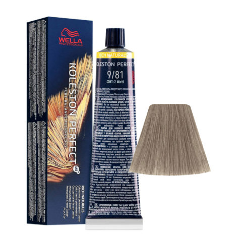 9/81 Lichtblond Perl Asch Wella Koleston perfect Me+ Rich Naturals 60ml