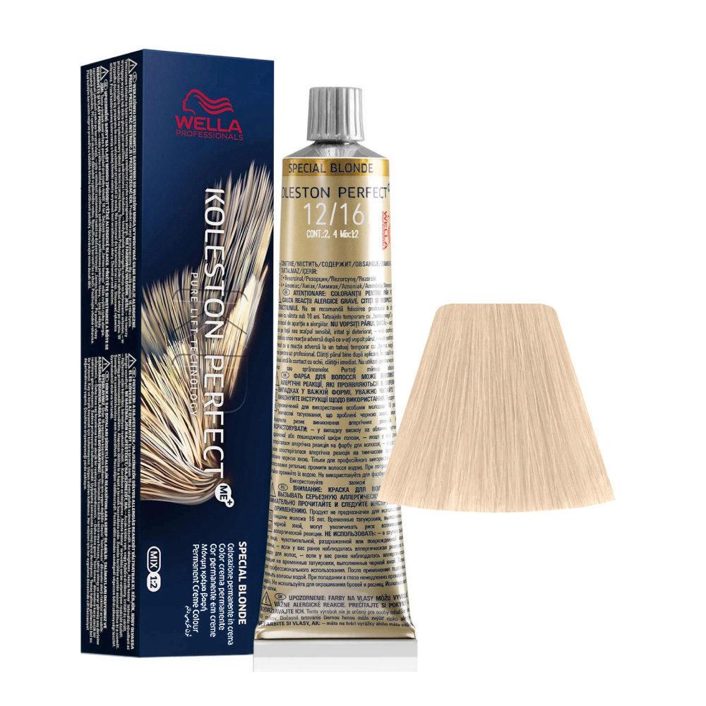 12/16 Blond Violette Asche Wella Koleston perfect Special Blondes 60ml