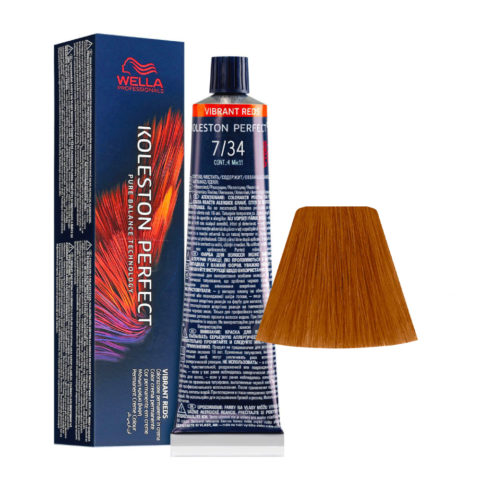 7/34 Mittelblond Gold Rot Wella Koleston perfect Me+ Vibrant Reds 60ml