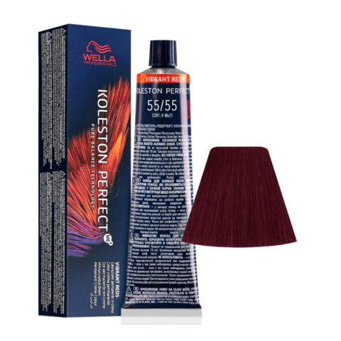 55/55 Hellbraun Intensives Mahagoni Intensives Wella Koleston perfect Me+ Vibrant Reds 60ml