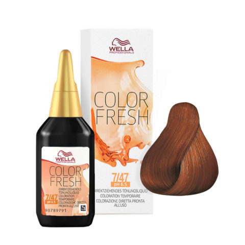 7/47 Mittelblond rot-braun Wella Color fresh 75ml