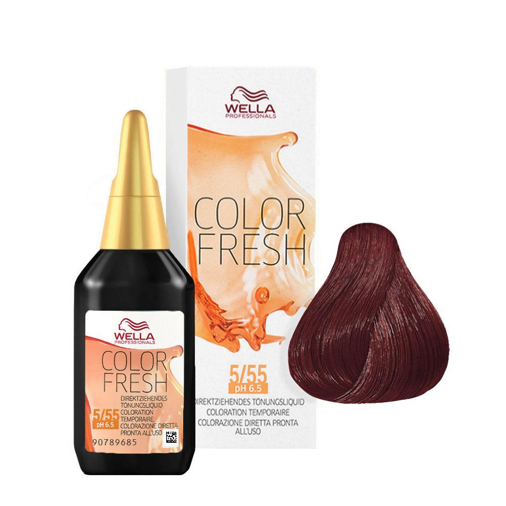 5/55 Casthellbraun mahagoni-intensiv Wella Color fresh 75ml