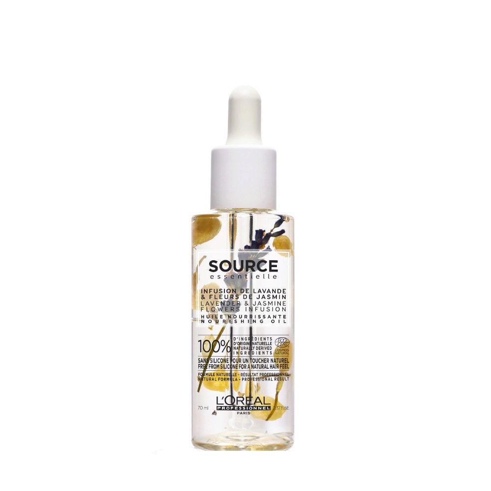 L'Oréal Source Essentielle Lavender & jasmine flowers infusion Nourishing oil 70ml - Nährendes öl