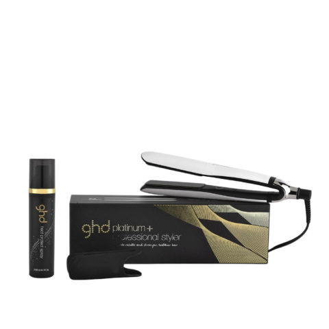 GHD Kit glätteisen Platinum + Styler weiss  Heat protect spray 120ml