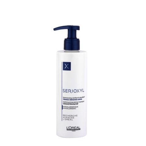 L'Oreal Serioxyl Clarifying densifying Shampoo 250ml - Wiederbelebung für gefärbtes Haar