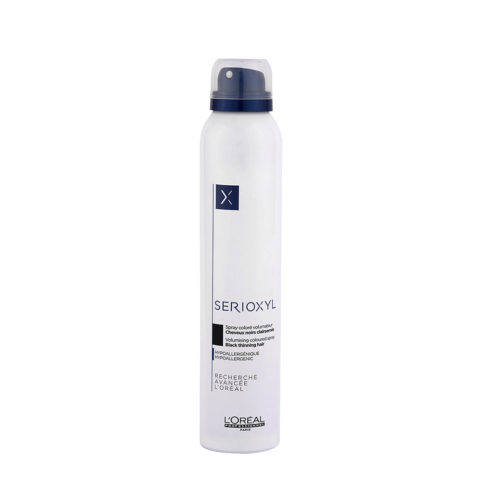 L'Oreal Serioxyl Volumising Coloured Spray Black 200ml - schwarzes voluminisierendes farbiges Spray