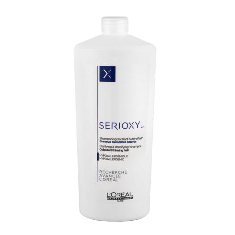 L'Oreal Serioxyl Clarifying densifying Shampoo 1000ml - Verdichting für gefärbtes Haar