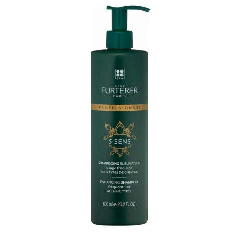 René Furterer 5 Sens Enhancing Shampoo 600ml - häufige anwendung für alle Haartype
