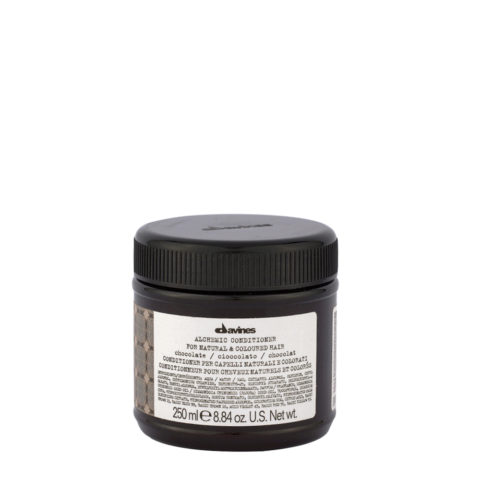 Davines Alchemic Conditioner Chocolate 250ml - Intensivert dunkelbraunes und schwarzes Haar