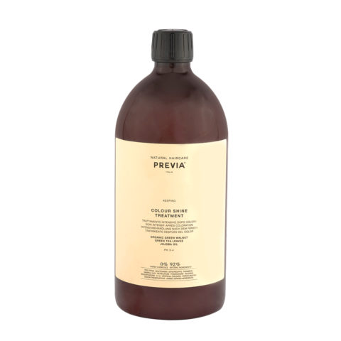 Previa Keeping Organic Green walnut colour shine Treatment 1000ml - farbige Haarmaske