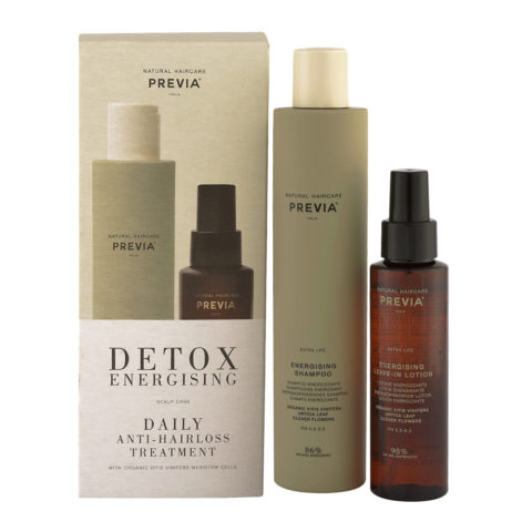Previa Detox Energising Daily Antihairloss Treatment Shampoo 250ml + Lotion 100ml