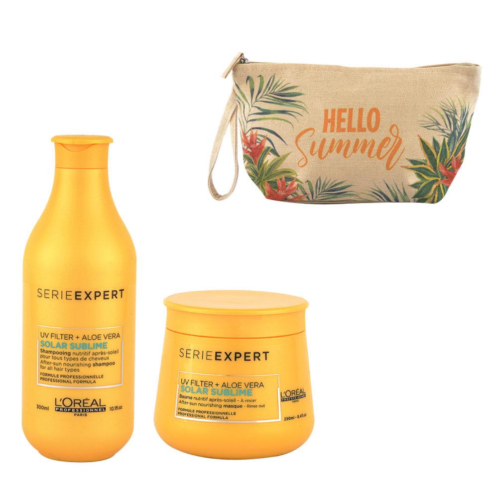 L'Oreal Solar Sublime Kit Shampoo 300ml Masque 250ml - Handtasche Geschenken